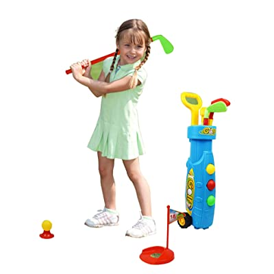 OYTRO Children Golf Toy Set Outdoor Indoor Kids Puzzle Parent-Child Sports Toy Toy Sports: Clothing