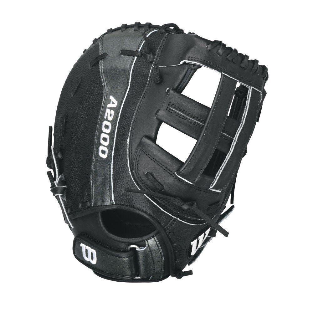 Wilson A2000 B 1st Base Fastpitch Softball Glove Black Matte Right Hand Throw 12.25-Inch [並行輸入品] B072BLH2B9