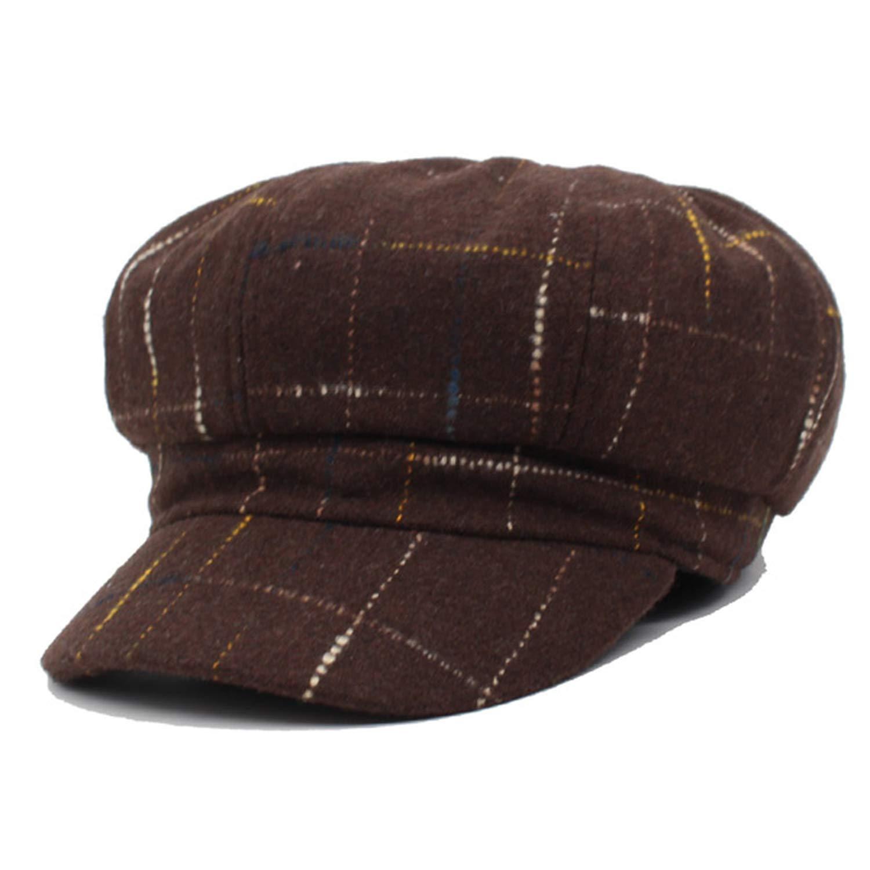 Newsboy Cap Women Octagonal Hats Beret Gorras Planas Snapback Casquette Sun, Black at Amazon Womens Clothing store: