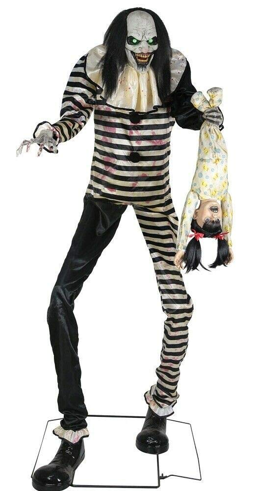 Sweet Dreams Clown Animated Prop 7' Evil Scary Animatronic Halloween Lifesize by Unknown