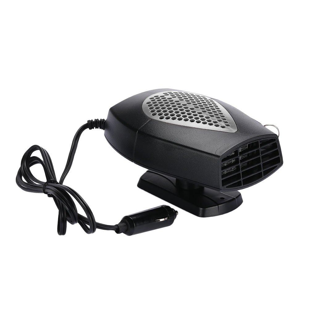 OYJJ 24V Portable car Heater Heater Electric 150w Snow defogger -Gray