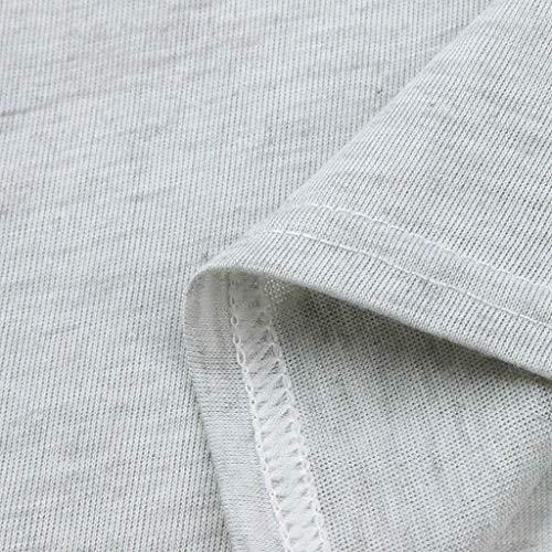 Longues Casual Gris Mode Tops Slash Manches Loose Shirt Trydoit Blouse Solid Femmes Femme Chemise Cou W468nn