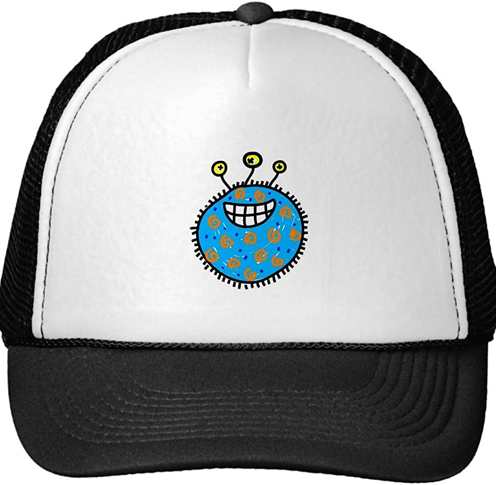 Smity 106 Blue Cartoon Germ Trucker Hat