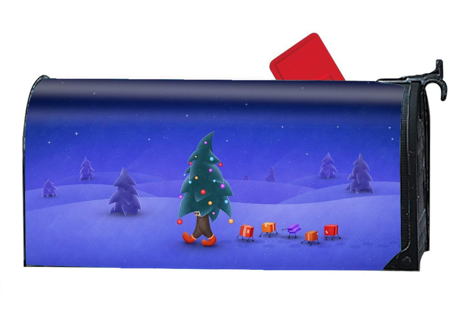 Mailbox Covers Holiday Christmas Tree Humor Front Door Decor - Customized Magnetic Cover
