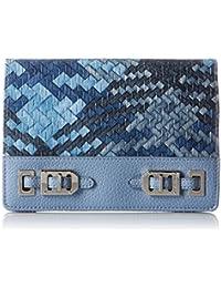 Gleam Team Slgs Wallet Foldover Clutch, Black, One Size
