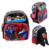 "Disney Marvel Ultimate SpiderMan Kids 12"" Toddler School Backpack Canvas Book Bag New"