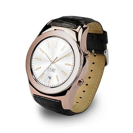 Amazon.com: paiwei A8S redondo reloj inteligente apoyo sd ...