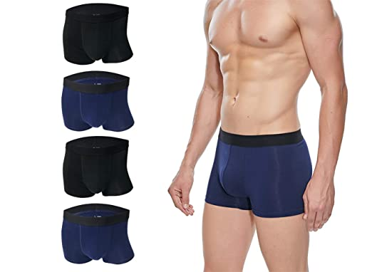 372950c99ac Men s Underwear Breathable Comfortable Classic Boxer Briefs Short Cotton 4  Pack at Amazon Men s Clothing store