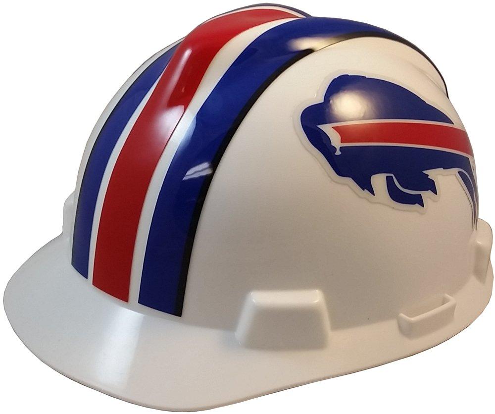MSA NFL Ratchet Suspension Hardhats - Buffalo Bills Hard Hats