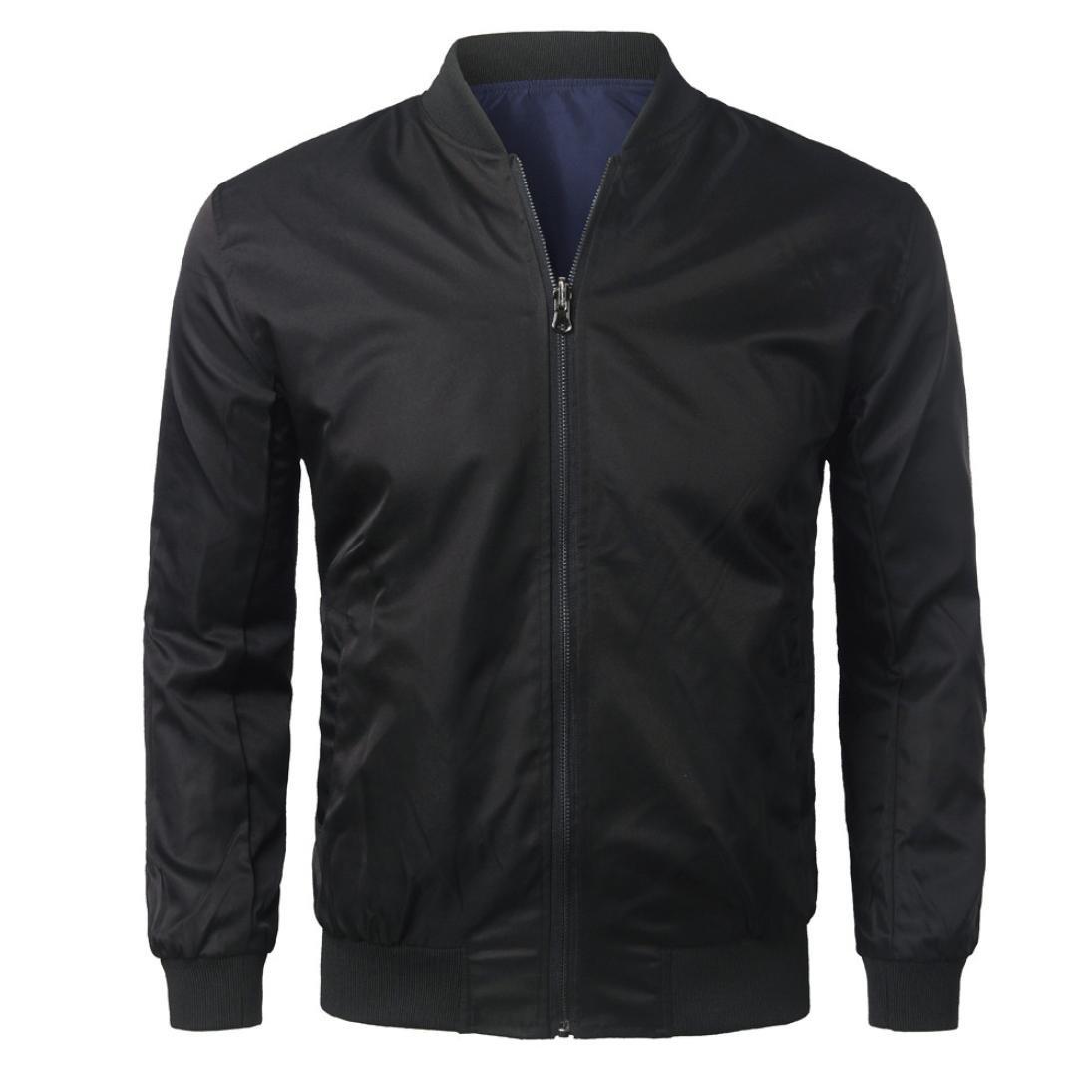 HOT ! Ninasill Mens Autumn And Winter Slim Designed Lapel Cardigan Coat Jacket (M, White) z95100c