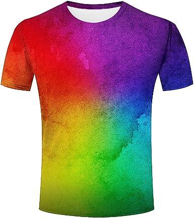 Camiseta para Hombre Fumar de Colores Unisex 3D Impresa ...