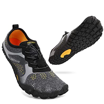 5b3e7f090e8a2 hiitave Unisex Barefoot Running Shoes Wide Toe Box Trainers