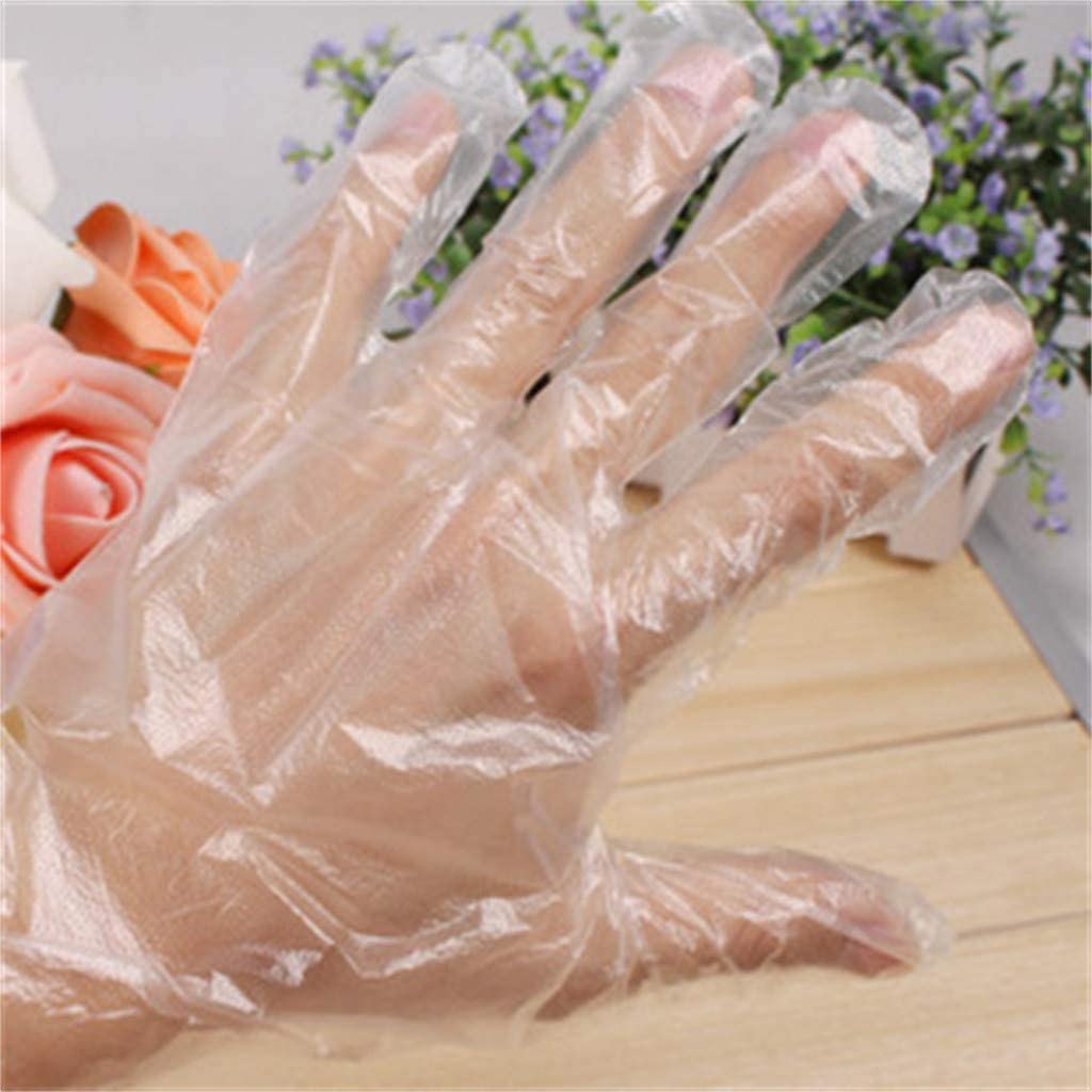 Powder Free Aobiny 200//300//400pcs Disposable Clear Plastic Gloves,Plastic Disposable Gloves Restaurant Home Service Catering Hygiene Medical Clear Vinyl Gloves Latex Free Disposable