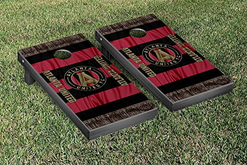 Atlanta United FC MLS Soccer Cornhole Game Set Scarf Version by Victory Tailgate