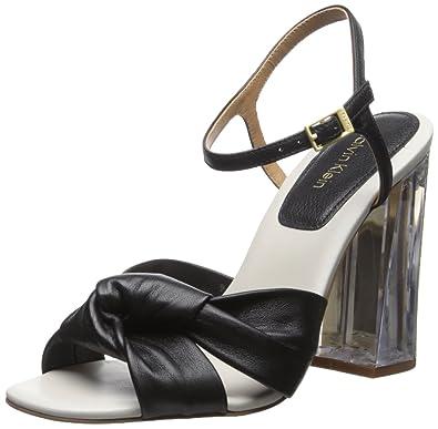 Calvin Klein Women's Laureen Platform Dress Sandal, Black, ...