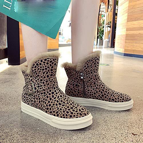 Femmes Fourrure Fourrées Manadlian Boots Bottines Jaune 2018 Wedge Cheville Chaud Plateforme De Ankle Courtes Confortable Chaussure Plates Bottes Neige Chaussures v0q51q