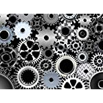 Sim,20.6 X 15.1 inch Jigsaw Puzzle Games We Played 500 Piece Made of Premium Basswood DIY Present in Box Present Wrap Room Mural : Steampunk Mechanism Machine 6