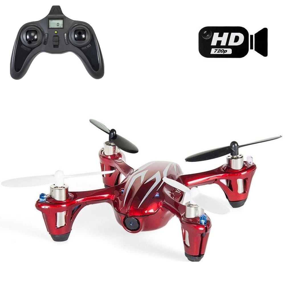 Hubsan X4 H107 C Quadrocopter Mini Drone Quadrocopter mit Kamera Spion 2 MP Full HD 1280 x 720 – Farbe rot