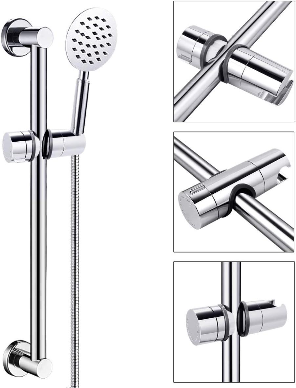 Support de douchette universel HAUSPROFI de 18-25 mm r/églable pour pommeau de douche ou pommeau de douche pour salle de bain pivotant /à 360/° en plastique ABS chrom/é
