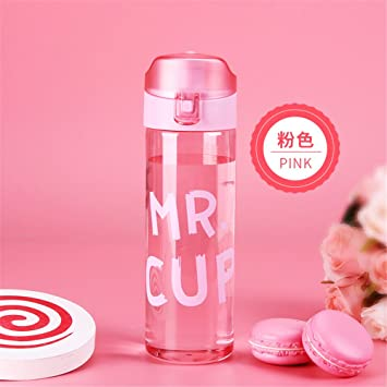 1pc 500 ml transparente botellas de agua zumo de plástico Tea Coffee espacio taza caliente venta
