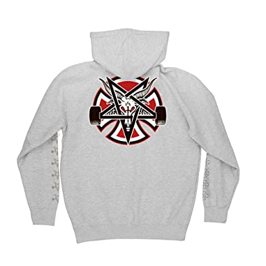 0227d83422ce Image Unavailable. Image not available for. Color  Independent Trucks x  Thrasher Magazine Pentagram Cross Men s Pullover Hoodie ...
