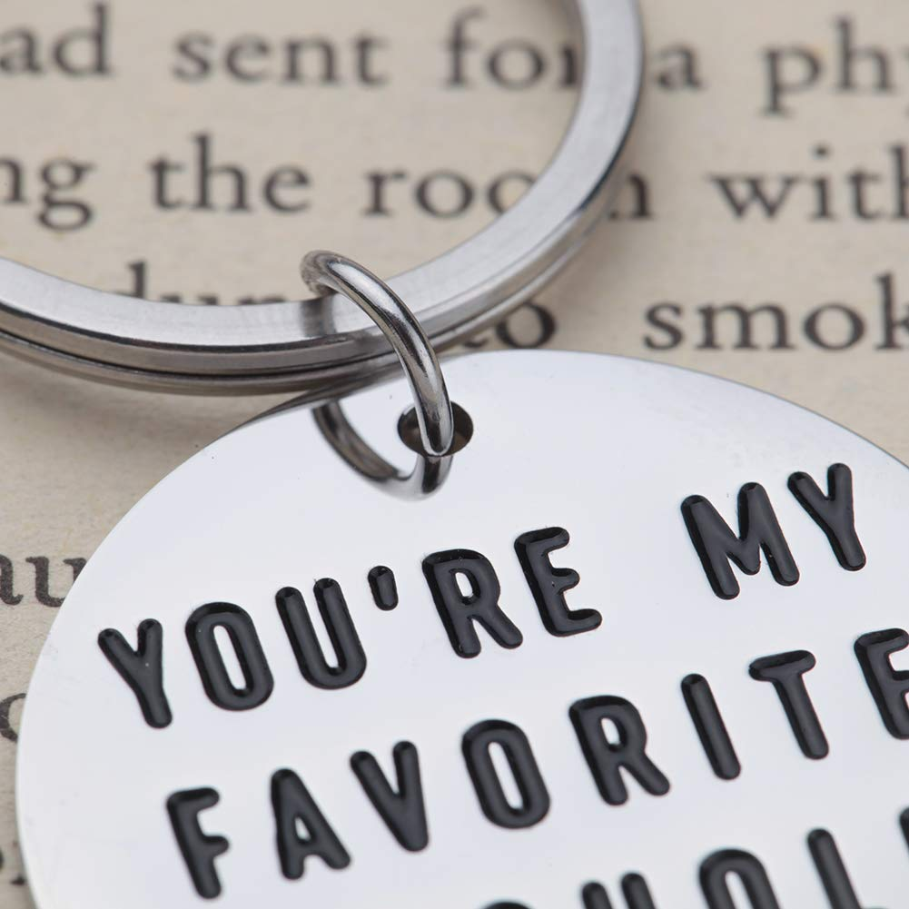 Funny Gifts for Boyfriend Girlfriend Youre My Favorite Asshle Keychain for Husband Wife Valentines Day Birthday Anniversary Christmas Present Couples Keychains for Him Her