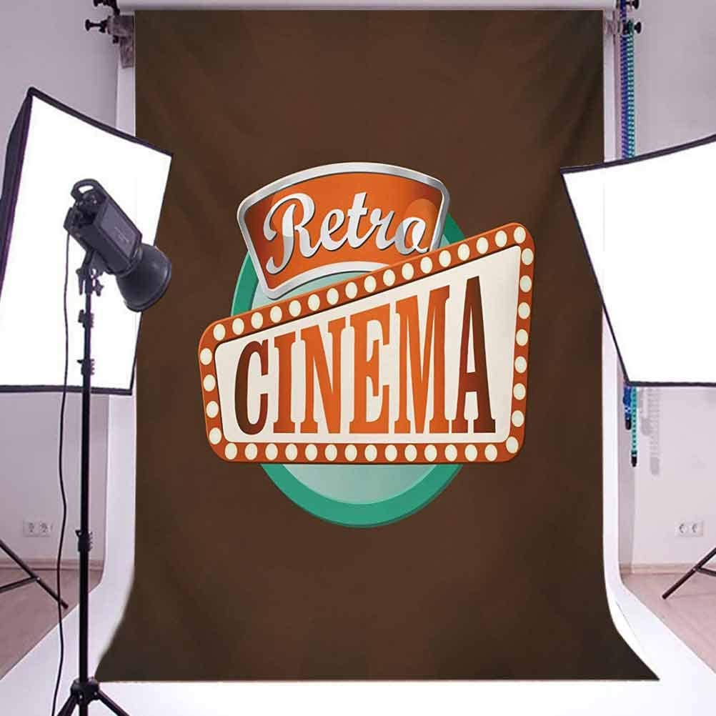 Retro Style Cinema Sign Design Film Festival Hollywood Theme Background for Photography Kids Adult Photo Booth Video Shoot Vinyl Studio Props Movie Theater 10x15 FT Photography Backdrop