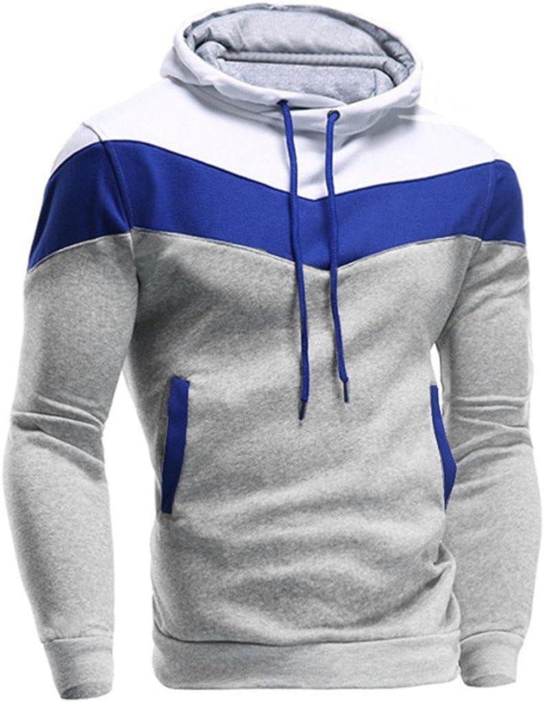 Autumn Winter Men Retro Long Sleeve Hoodie Hooded Sweatshirt Tops Jacket Coat Outwear haoricu Mens Shirt