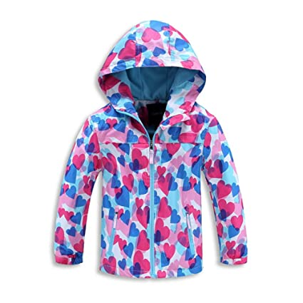 J-TUMIA Chaqueta de Abrigo para niños Chaqueta Cortaviento de montaña con Abrigo de Lana