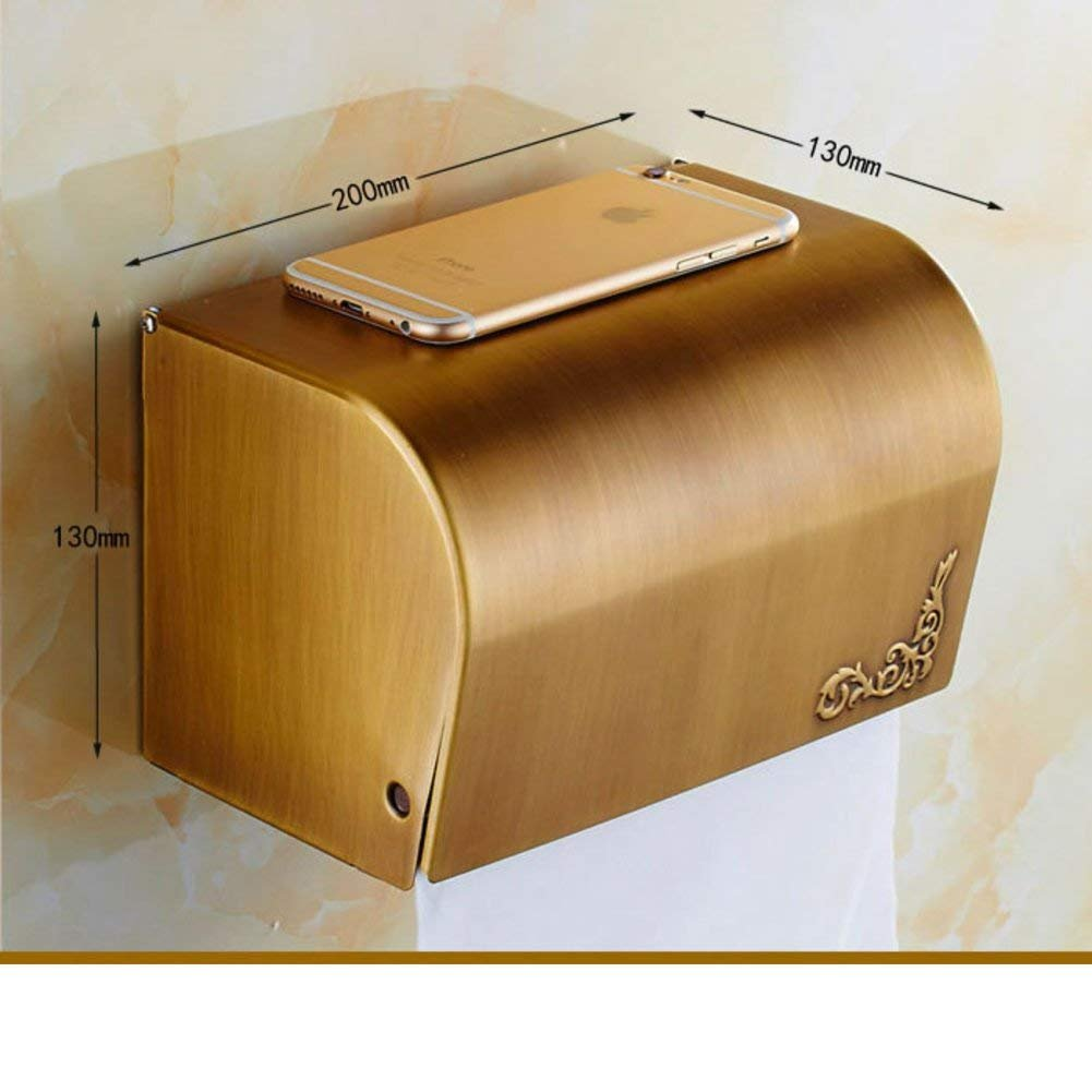 WSJJGAO Antique Tissue Box Toilet Toilet Paper Holder Toilet [Waterproof Hand Tray] Toilet Paper Holder Toilet Winding Machine-B