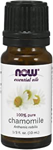 NOW Essential Oils, Chamomile Oil, Delightful Aromatherapy Scent, Steam Distilled, 100% Pure, Vegan, Child Resistant Cap, 10-ml