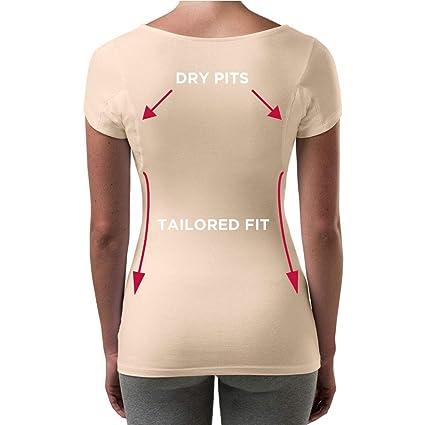 The Thompson Tee Camiseta Interior antisudor Para Mujer - con Refuerzo  Antimicrobiano EN Las Axilas - Corte Regular - Cuello Ovalado  Amazon.es   Ropa y ... aa66e02154cf0
