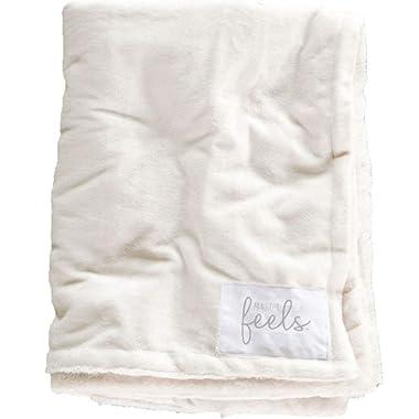 All the Feels Premium Reversible Blanket, Full/Queen, 88x92, Snow White Blanket, Super Soft Cozy Blanket