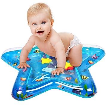 StillCool Inflable Alfombra de Juego de Agua para Bebé Water Mat Tummy Time Juego Centro de Actividad