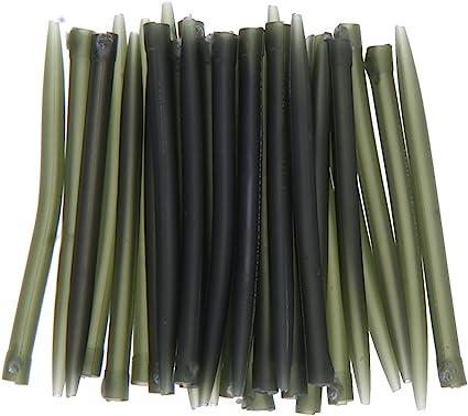30pcs Soft Anti Tangle Hook Sleeves Tubes Carp Fishing Rig Terminal Tackle j$