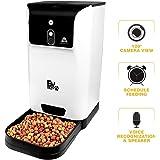 BV mascota alimentador automático de Smart con cámara para perros y gatos–alimentación, reloj, y interactuar con su mascota de forma remota a través de smartphone