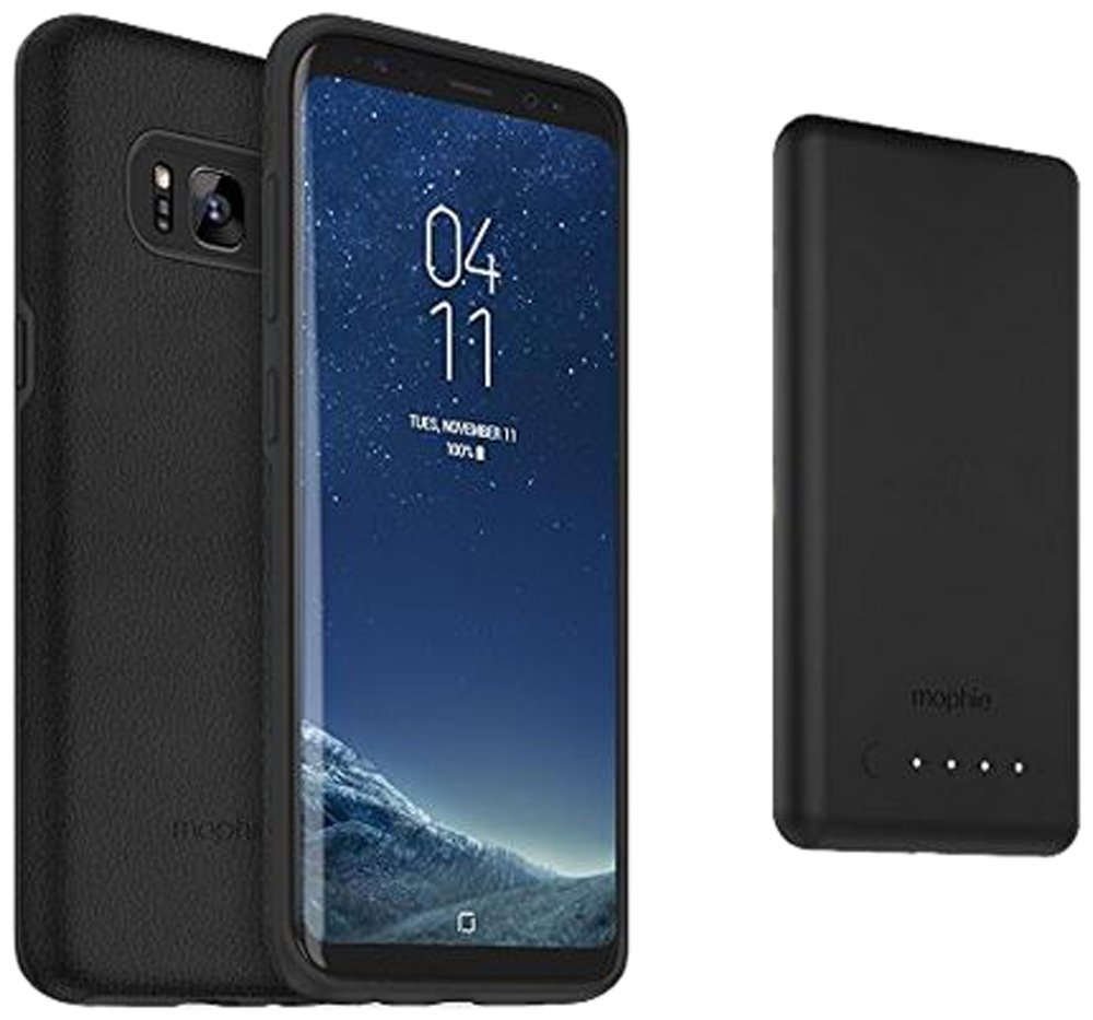 separation shoes 3be87 eac7d mophie charge force magnetic case & powerstation mini Made for Samsung  Galaxy S8+ - Black
