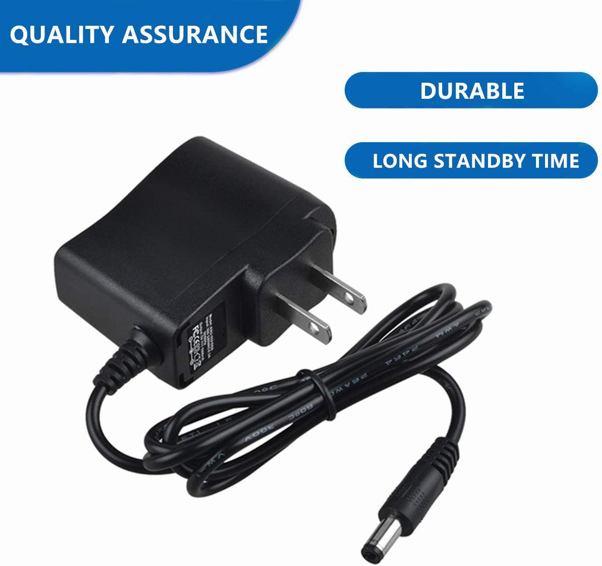 Splitter Fits 110v BC12V300 5.5mm 180NCP 1900NCP Accessory USA AC Adapter for DOGTRA Charger