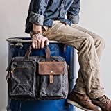 Handmade Waxed Canvas Duffle Bag Travel Bag Holdall Luggage Bag Overnight Bag Weekender Bag Canvas Messenger Bag Crossbody Bag 15'' Laptop Bag