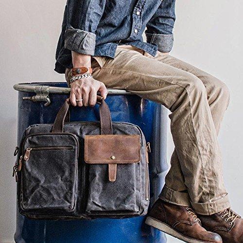 Handmade Waxed Canvas Duffle Bag Travel Bag Holdall Luggage Bag Overnight Bag Weekender Bag Canvas Messenger Bag Crossbody Bag 15'' Laptop Bag by Jellybean Gorilla