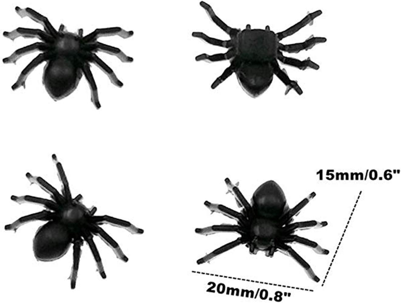 Plastic Spiders,3D Decorative Scary Spiders Mini Fake Spiders Halloween Party Prank Props for Halloween Party Fools Day Decorations CZSYZCZS Halloween Party Supplies 200 pcs
