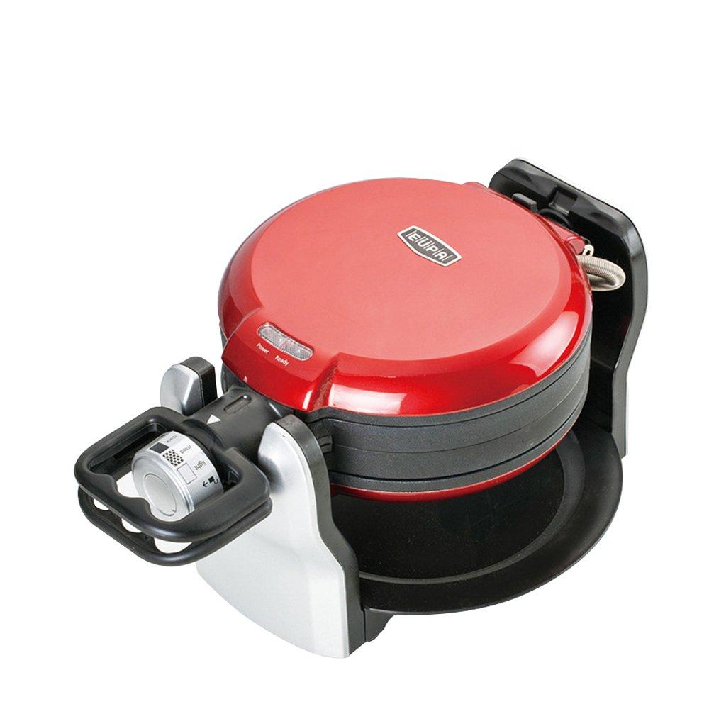 HUKOER Double-sided flip muffin machine rotary business / home waffle machine thickening baking cake machine 220V