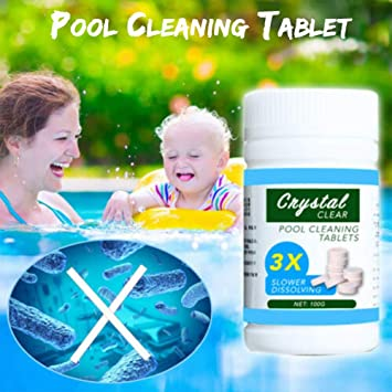 Amazon Com Lovfashion 4 Bottles Pool Cleaning Tablet Effectively Purify Water Enjoy Crystal Clear Pool Home Kitchen