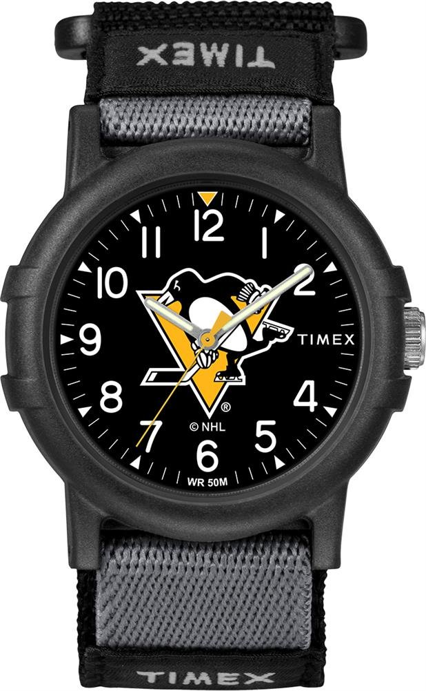 Timex Youth TWZHPNGYA Recruit Pittsburgh Penguins NHL Tribute Collection Watch by Timex Tribute