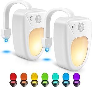 Toilet Light Toilet Bowl Light Toilet Night Light Motion Activated Toilet Led Light for Bathroom 2 Packs