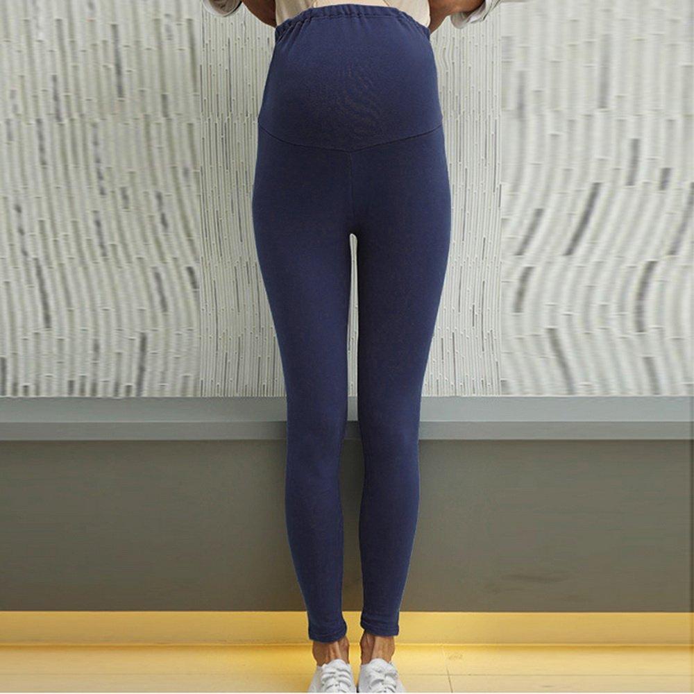 Sfit Femme Pantalon Maternit/é Enceinte Grossesse Longue Legging Stretch pour Printemps et Automne