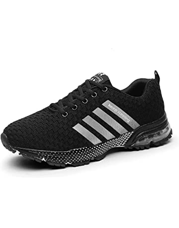 1fe04881ef72 SOLLOMENSI Men Women Sports Shoes Running Sneakers Trainers Air Cushion  Fitness Athletic Walking Gym