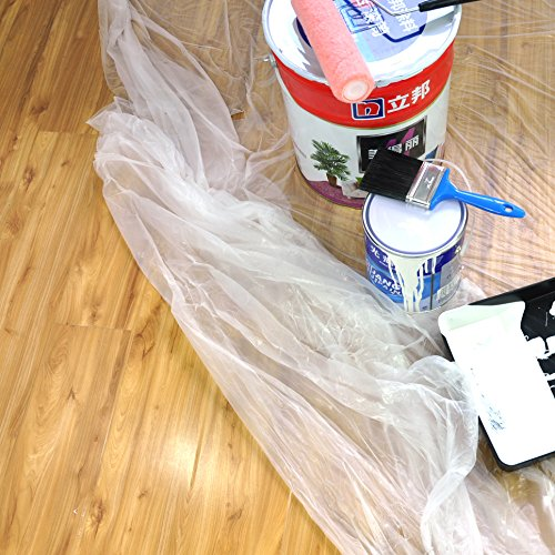Heavy Duty Multi use 3 Rolls 9x12 inch,Paint Roller,Drop Cloth,Plastic Drop Cloth,Work for Paint Roller,Paint Drop Cloth,1MIL Clear Plastic Drop Cloth,Drop Cloths for Painting, Home Repair Tools by Blues (Image #2)