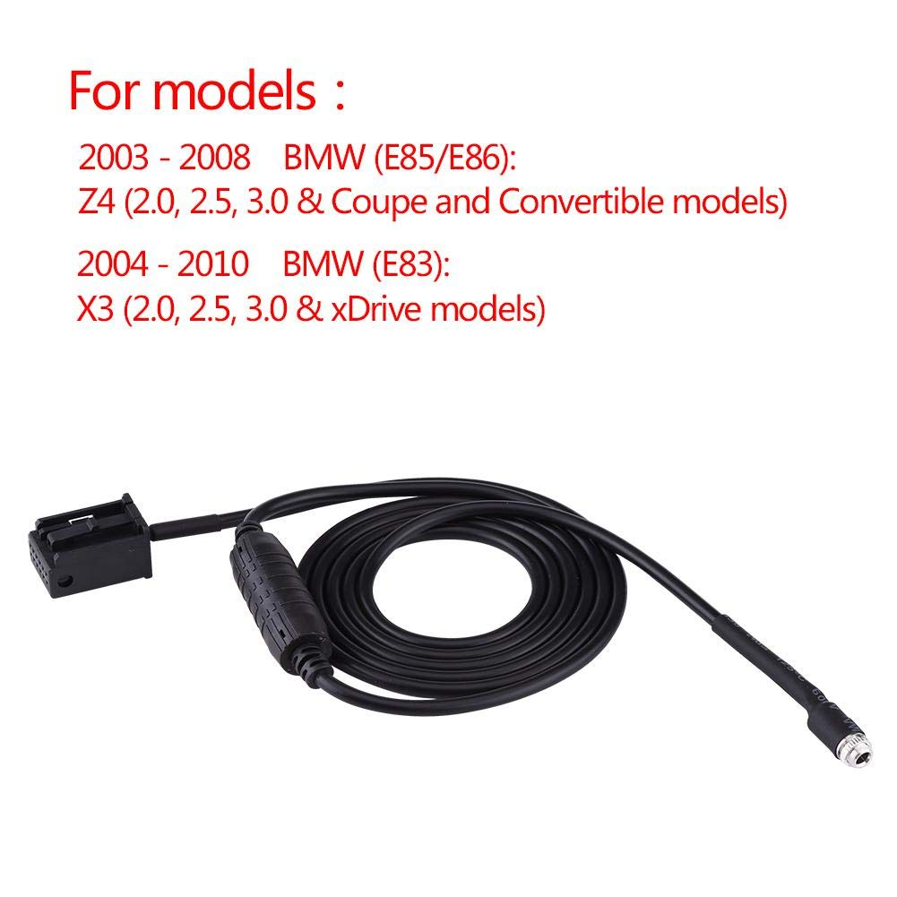 Acouto Car AUX Female Auxiliary Adapter IPOD Cable For BMW E85 E86 Z4 CD X3 E83 12 Pin Line For Ipod