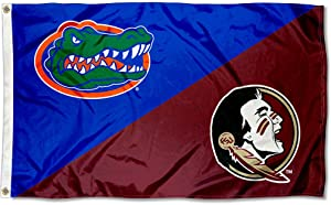 College Flags & Banners Co. Florida vs. Florida State House Divided 3x5 Flag